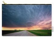 Storm Clouds Over Saskatchewan Country Road Carry-all Pouch