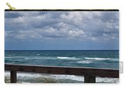 Storm Clouds Over The Beach Carry-all Pouch
