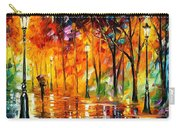 Storm Of Emotions - Palette Knife Oil Painting On Canvas By Leonid Afremov Carry-all Pouch