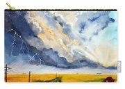 Storm Over The Country Road Carry-all Pouch