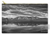 Stormy Lake Tahoe Black And White Carry-all Pouch