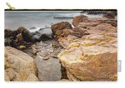 Stormy Rock Beach Carry-all Pouch