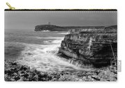 stormy sea - Slow waves in a rocky coast black and white photo by pedro cardona Carry-all Pouch