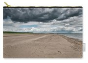 Stormy Weather Over Tentsmuir Beach In Scotland Carry-all Pouch