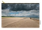 Stormy Weather Over The Beach In Scotland Carry-all Pouch