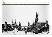 Strasbourg Skyline-black Carry-all Pouch