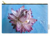 Straw Flower On Blue Carry-all Pouch