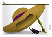 Straw Hat And Horn Beetle Carry-all Pouch