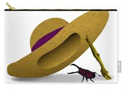 Straw Hat And Stag Beetle Carry-all Pouch