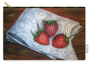 Strawberries-3 Contemporary Oil Painting Carry-all Pouch