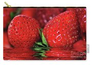 Strawberries Afloat By Kaye Menner Carry-all Pouch