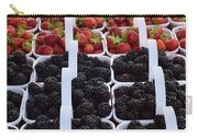 Strawberries And Blackberries Carry-all Pouch
