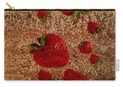 Strawberries And Stone Slab  Carry-all Pouch