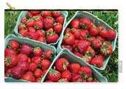Strawberries In A Box On The Green Grass Carry-all Pouch