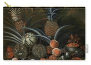 Strawberries In A Porcelain Bowl With Pineapples Melons Peaches And Figs Before A Tropical Landscape Carry-all Pouch