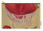 Strawberries In Crystal Dish Carry-all Pouch