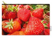 Strawberries In Natural Background Carry-all Pouch by Alex Grichenko