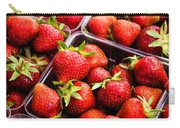 Strawberries With Green Weed In Plastic Containers  Carry-all Pouch