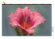 Strawberry And Blue - Daylily Carry-all Pouch