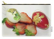 Strawberry And Easter Eggs Carry-all Pouch