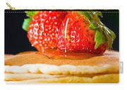 Strawberry Butter Pancake With Honey Maple Sirup Flowing Down Carry-all Pouch