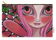 Strawberry Butterfly Fairy Carry-all Pouch