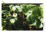 Strawberry Flower And Bee Carry-all Pouch