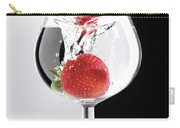 Strawberry In A Glass Carry-all Pouch by Maxim Images Prints