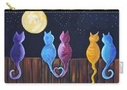 Stray Cats In Moonlight Carry-all Pouch