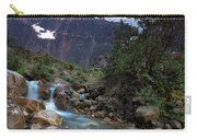 Stream And Mt. Edith Cavell At Sunset Carry-all Pouch