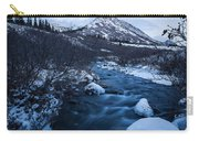 Mountain Stream In Twilight Carry-all Pouch