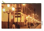 Street At Night, Lima Peru Carry-all Pouch