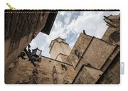 Street Behind The Barcelona Cathedral In Spain. Carry-all Pouch