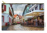 Street Cafe After The Rain Carry-all Pouch by Dmytro Korol