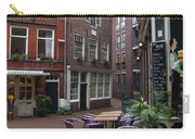Street Cafe Mooy In Amsterdam Carry-all Pouch