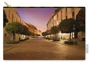 Street In Ostrow Tumski By Night In Wroclaw Carry-all Pouch