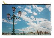 Street Lamp At Venice, Italy Carry-all Pouch