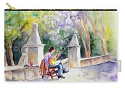 Street Musician In Pollenca Carry-all Pouch