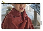 Street Portrait Of A Young Monk Carry-all Pouch