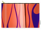 Street Rod Design In Orange And Blue Carry-all Pouch