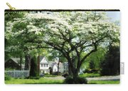Street With Dogwood Carry-all Pouch