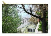 Street With Forsythia Carry-all Pouch