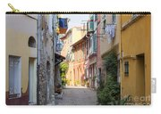 Street With Sunshine In Villefranche-sur-mer Carry-all Pouch