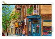 Streets Of Montreal Over 500 Prints Available By Montreal Cityscene Specialist Carole Spandau Carry-all Pouch