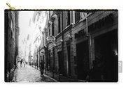 Streets Of Rome 2 Black And White Carry-all Pouch