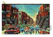 Streetscenes Of Montreal Hockey Paintings By Montreal Cityscene Specialist Carole Spandau Carry-all Pouch