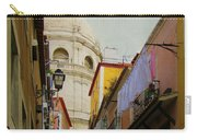 Street Scene In Alfama District Of Lisbon Carry-all Pouch
