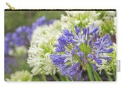 Striking Blue And White Agapanthus Flowers Carry-all Pouch