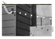 String Of Ideas Black And White Carry-all Pouch