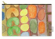 Striped Colorful Pattern With Croissants  Carry-all Pouch